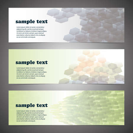 Header Design Set Vector