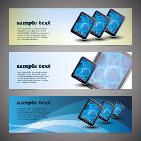 web page elements: Header or Banner Design Illustration