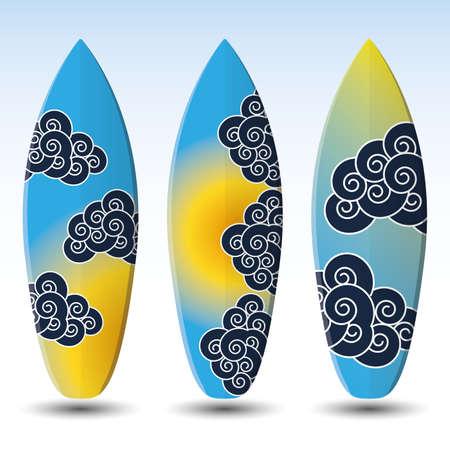 Surfboards Design Vector
