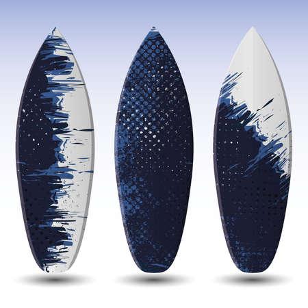 Diseño de tablas de surf Ilustración de vector
