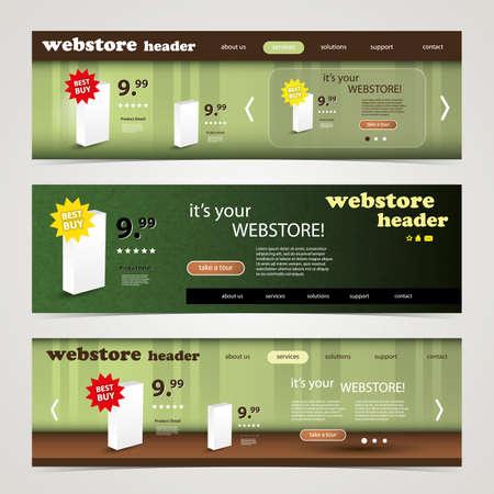 Header Design Set Vector