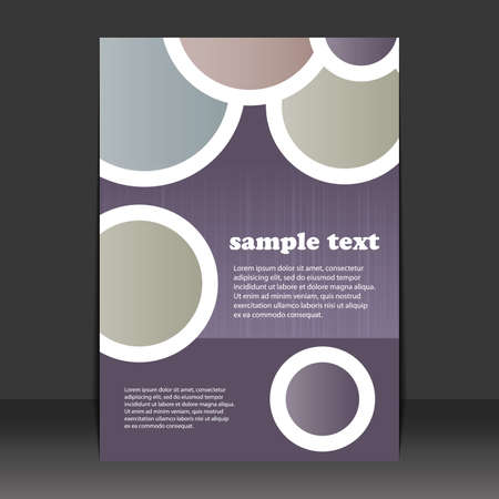 Flyer design Vector