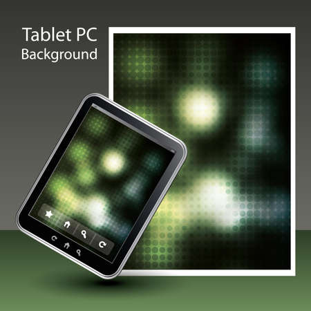 Tablet PC Background Stock Vector - 10424051