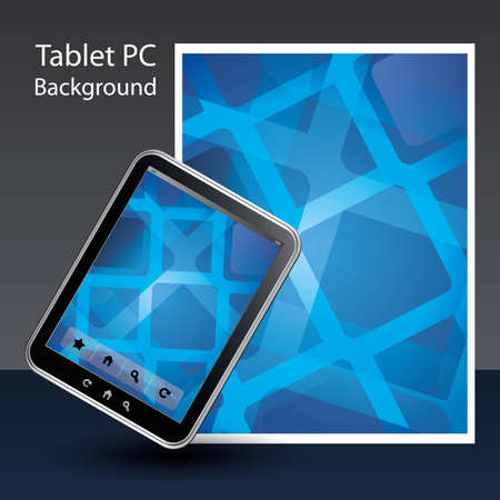 Tablet PC Background Stock Vector - 10424046