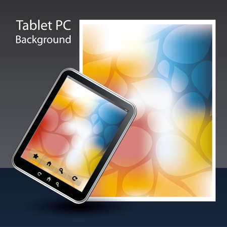 Tablet PC Background Stock Vector - 10424048