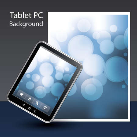 Tablet PC Background Stock Vector - 10424050