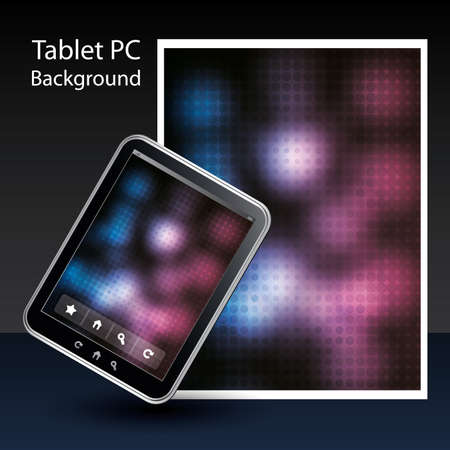 Tablet PC Background Stock Vector - 10424052