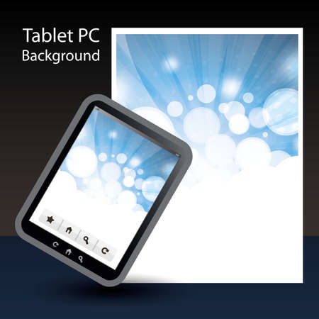 Tablet PC Background Stock Vector - 10424036
