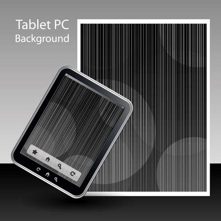 Tablet PC Background Stock Vector - 10424035