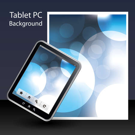 Tablet PC Background Stock Vector - 10424034