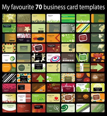 name card: 70 Colorful Business Cards Illustration