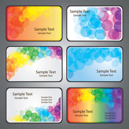 Colorful Business Card Vectors Stock Vector - 10443461
