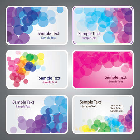 Colorful Business Card Vectors Stock Vector - 10443460