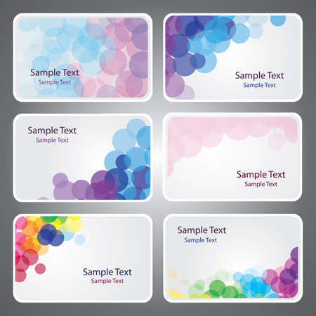 name graphics: Colorful Business Card Vectors