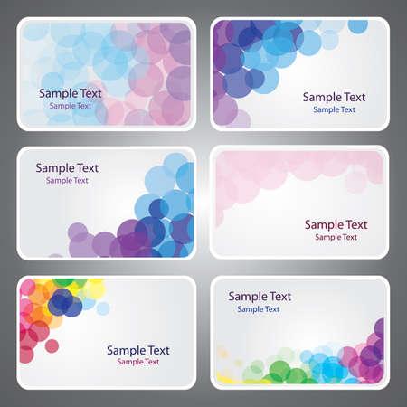 Colorful Vecteurs Business Card Vecteurs