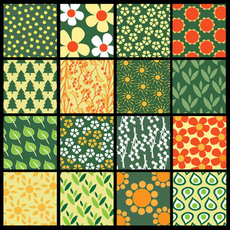 16: 16 Colorful Abstract Backgrounds: Flowers Illustration