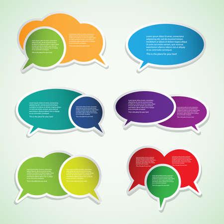 speech bubble: �tiquettes color�es, Tags