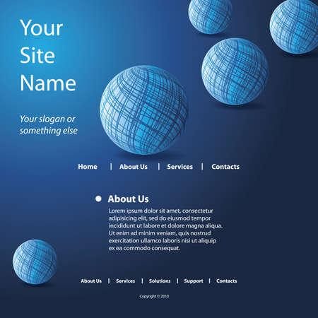 Website Template Stock Vector - 10473568