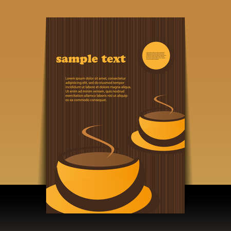 Flyer or Cover Design - Coffee Cup Vector