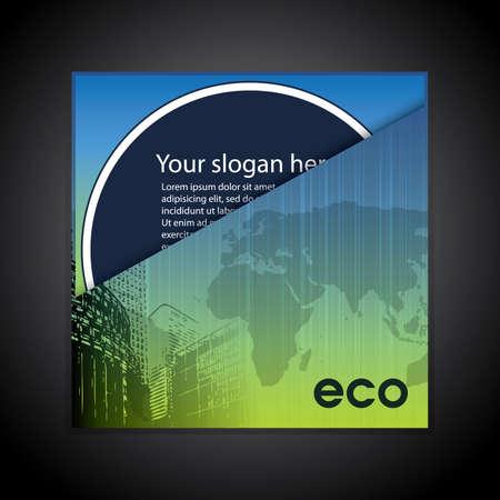 Corporate eco folder Stock Vector - 10473675