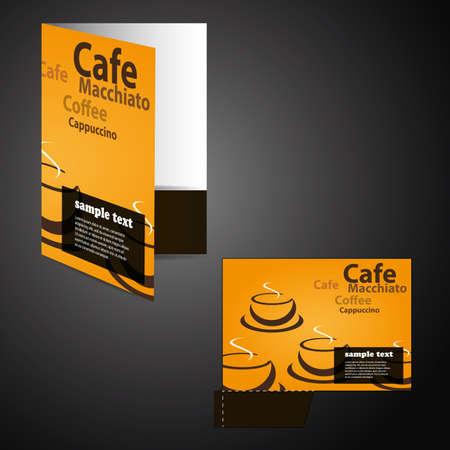 Corporate folder with die cut design Vector