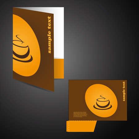 Corporate folder with die cut design Illustration