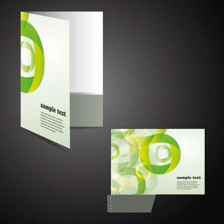 sinergia: Carpeta corporativa con chip corta diseño Vectores