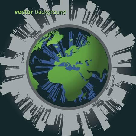 Polluted Globe Vector Vector
