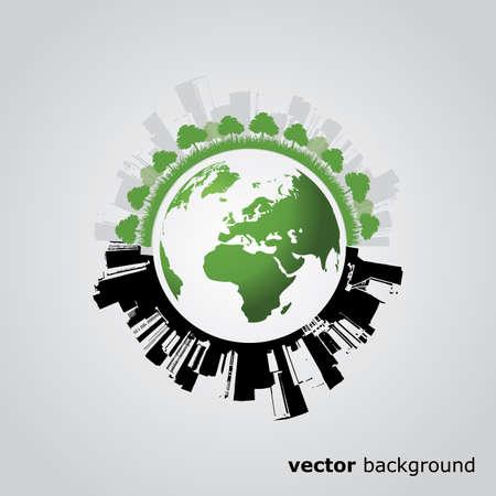 Eco Globe Vector Vector
