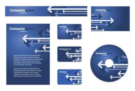 carta da lettere: Set di business: Banner, Busta, Business Card, CD, Cancelleria, Carta da lettere