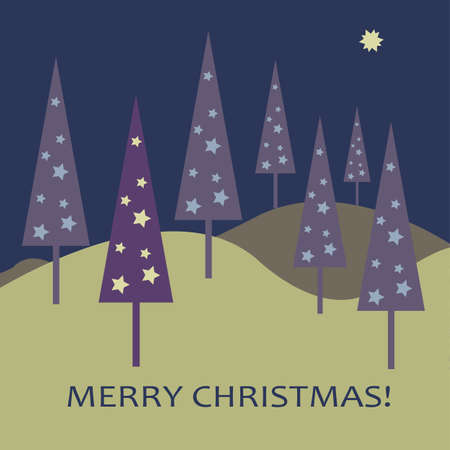 christmas tree purple: Christmas Tree Background Illustration