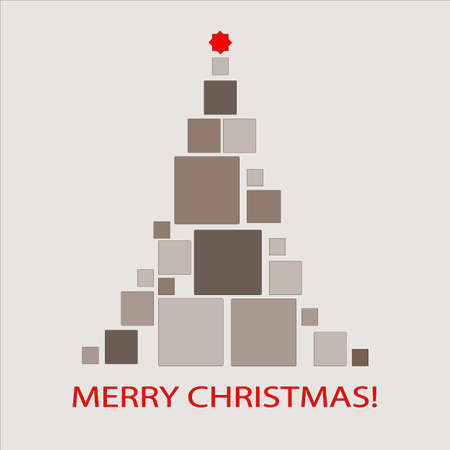 Christmas Tree Card Stock Vector - 10521828