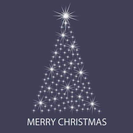 Christmas Tree Background: Stars Vector