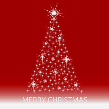 rot: Weihnachtsbaum-Hintergrund: Sternen Illustration