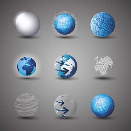 globo terraqueo: Colecci�n de dise�os de globo