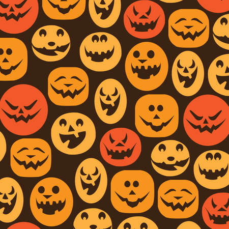 carved pumpkin: Halloween Backdrop Illustration