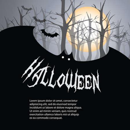 scary halloween: Halloween Backdrop Illustration