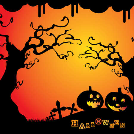 artwork backdrop: Halloween Background Illustration