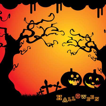 październik: Halloween tÅ'a Ilustracja