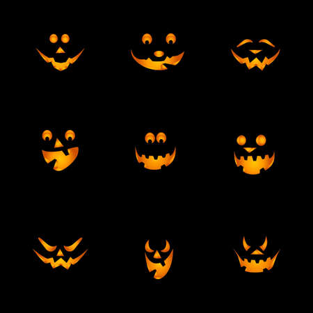 Halloween Pumpkins Background Vector