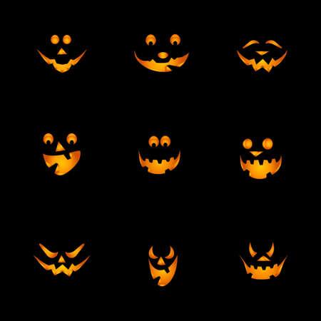 zucche halloween: Sfondo di zucche di Halloween Vettoriali