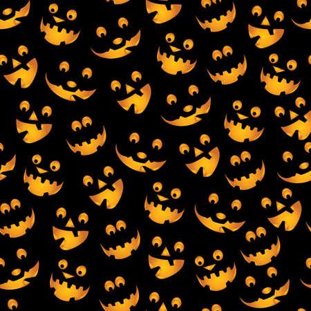carved pumpkin: Halloween Pumpkins Background Illustration