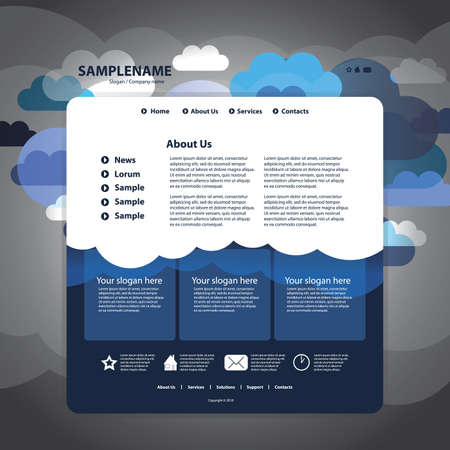 주형: 웹 사이트 디자인 템플릿