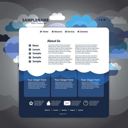 site web: Sito modello di progettazione
