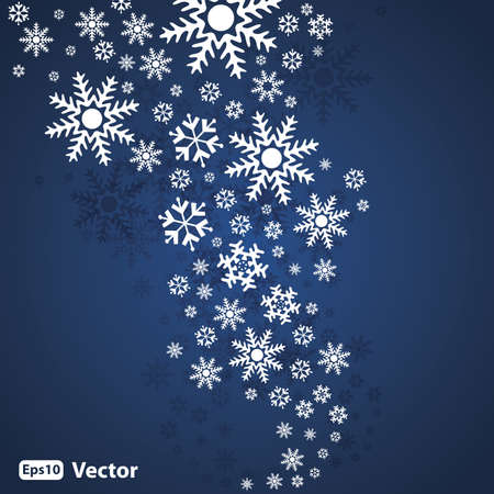 Abstract snow background vector Stock Vector - 10556470