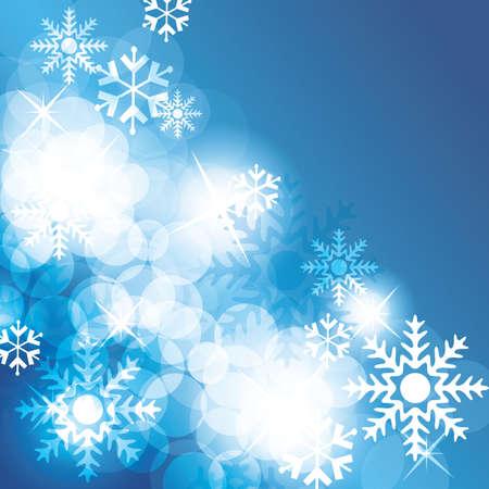 kârlı: Christmas background with snowflakes - vector Çizim