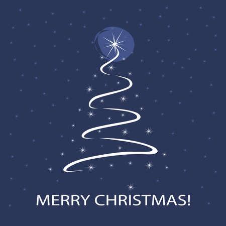 Christmas Tree Background Stock Vector - 10602706