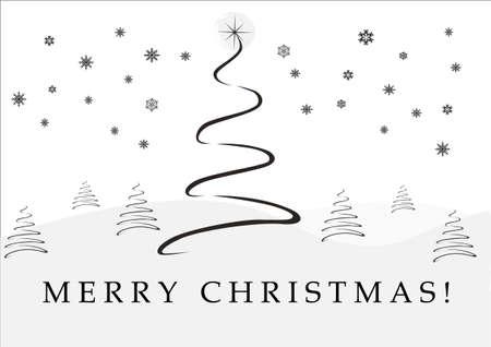 arboles blanco y negro: Antecedentes: �rbol de Navidad Vectores