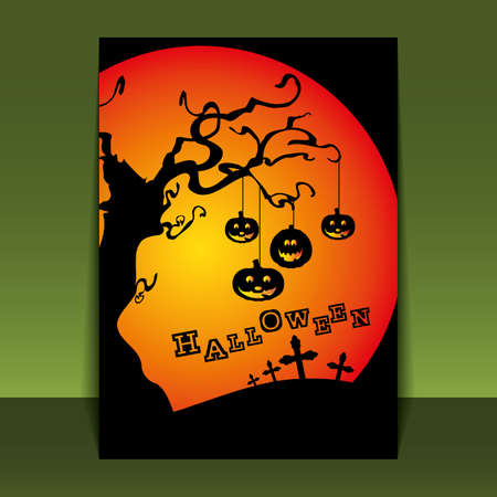 spooky eyes: Halloween Flyer or Cover Design