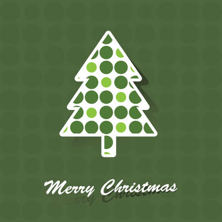 Christmas tree card Vector